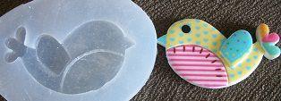 Molde de Silicone Pássaro (4,2cm)