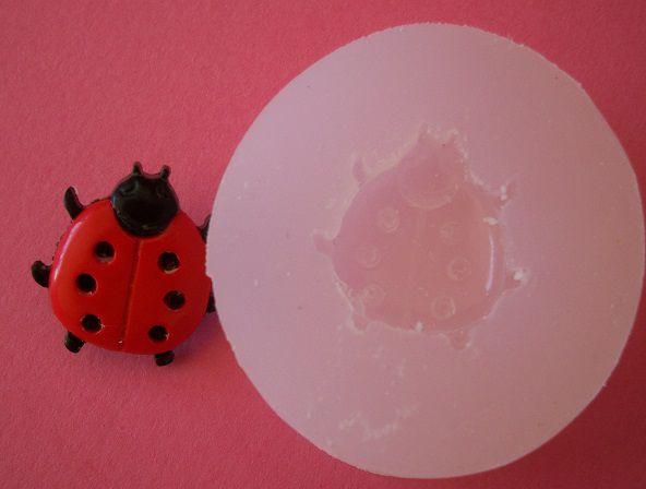 Molde de Silicone Joaninha (2cm)
