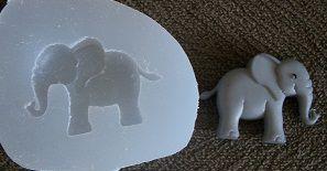 Molde de Silicone Elefante (3cm)