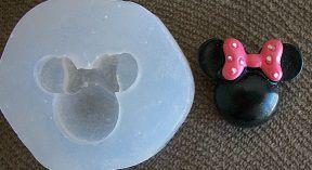 Molde de Silicone Minnie (2cm)