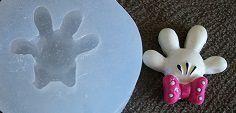 Molde de Silicone Minnie - Mão (2,4cm)