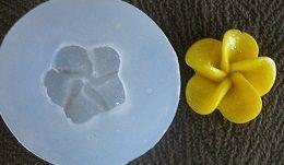 Molde silicone Incolor Flor amarela - 4869 (2cm)