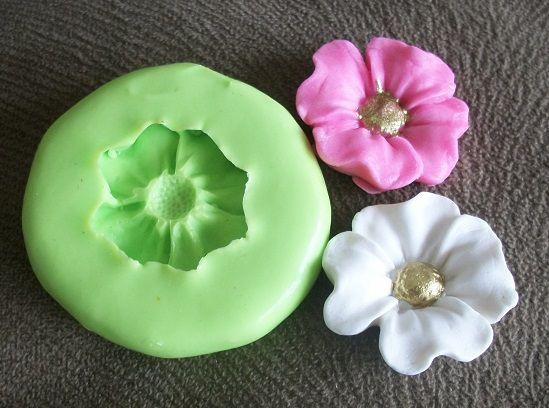 Molde de silicone  Flor - Moana - (2,5cm)