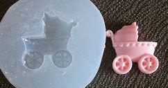 Molde de Silicone Carrinho bebê (2,2cm)