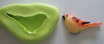 Molde de Silicone Pássaro (2,7cm)