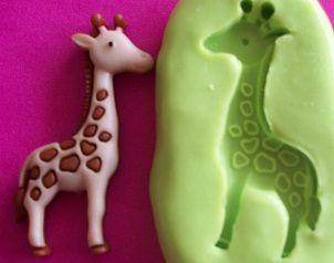 Molde de Silicone Girafa (Noé)  (3cm)