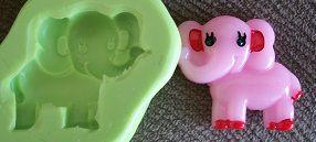 Molde de Silicone Elefante rosa (2,5cm)