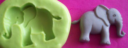Molde de Silicone Elefante (Noé)  (3cm)