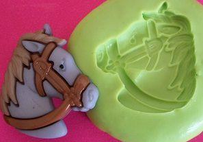 Molde de Silicone Cavalo cinza (2,5cm)