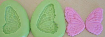 Molde de Silicone Asa de borboleta (par) (3cm)