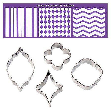 Cortadores/marcadores geométricos - 4 peças