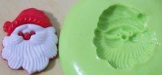 Molde de Silicone Natal - Papainoel (2cm)