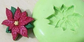 Molde de Silicone Flor de Natal (2,4cm)