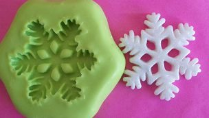 Molde de Silicone Cristal de neve (3cm)