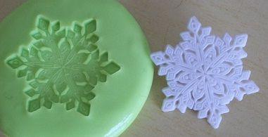 Molde de Silicone Cristal de neve (2,5cm)