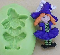 Molde de Silicone Halloween menina  (3,2cm)