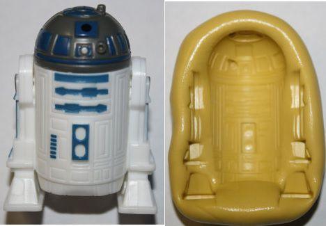 Molde de Silicone R2D2 Star Wars G (4,8cm)