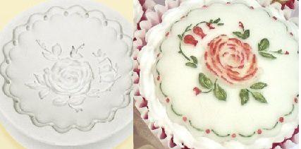 Molde de silicone Topo cupcake rosa (Br.) -4634 (5,5cm)