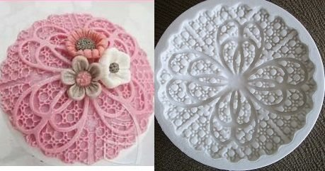 Molde de silicone Topo cupcake renda (Br.) -4635 (6,5cm)