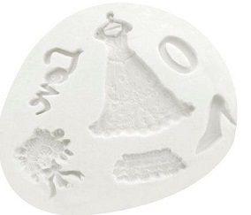 Molde de silicone  Noiva Kit - 4839 (10,5cm)