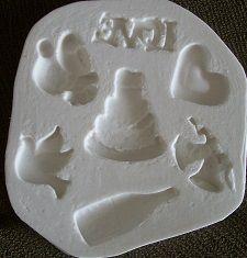 Molde de silicone casamento - 4840 (7x6,5cm)