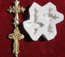 Molde de silicone Crucifixo -2 mod. (Br.)