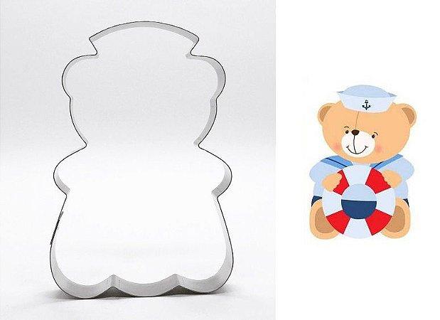Cortador de biscoito Urso Marinheiro (10cm)