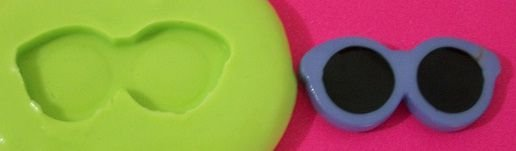 Molde de Silicone Óculos (2,5cm)
