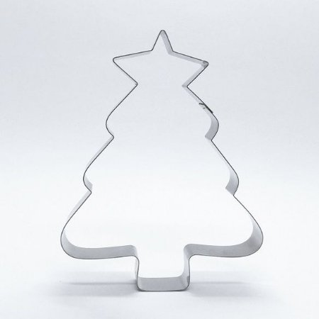 Cortador de biscoito Árvore com estrela (11cm)