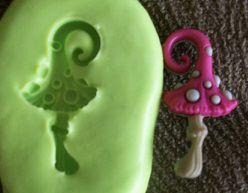 Molde de Silicone Cogumelo fada (2,5cm)