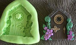 Molde de Silicone Casa fada flor (3cm)