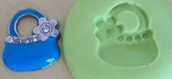 Molde de Silicone Bolsa flor (2cm)
