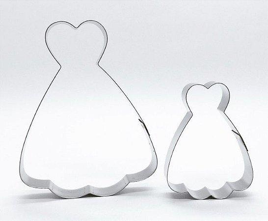 Cortador de biscoito Vestido (9cm e 6cm)