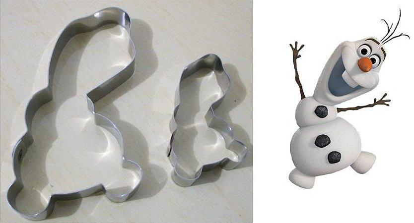 Cortador de biscoito Olaf Frozen (9cm)