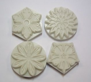 Marcador com 4 Carimbos-Floral- 4015 (3,8cm cada)