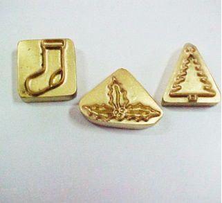 Carimbos Natal c/ 3 peças-4417 (5cmx3,5cm)
