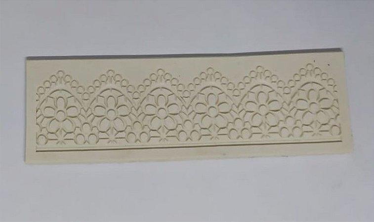 Molde de silicone de Renda 15x4cm
