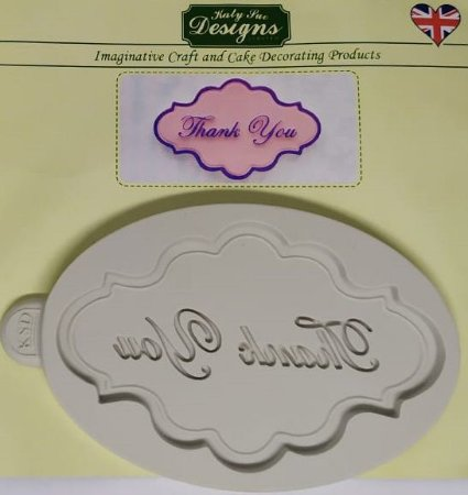 Molde de silicone Moldura Thank You (Katy Sue Designs - importado)