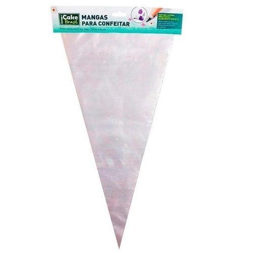 Manga de confeitar transparente - Cake Brasil - 40cmx22cm