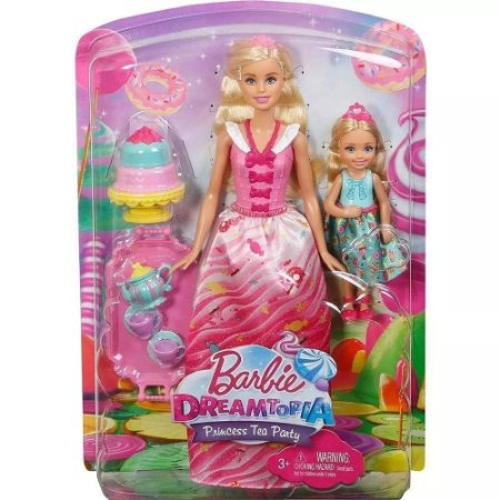 Barbie e Chelsea Mattel em Hora do Chá