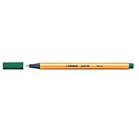 Caneta Stabilo 0,4mm Point 88/53 Verde Escuro