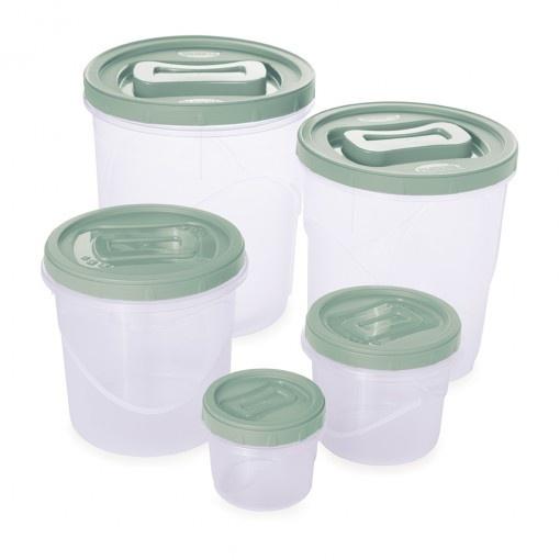 Conjunto Pote Plasútil Clic Rosca 5 Pçs