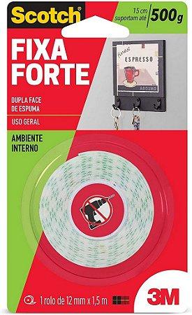 Fita Dupla Fc Espuma 3M Scotch 12mm 1,5m Fx Forte