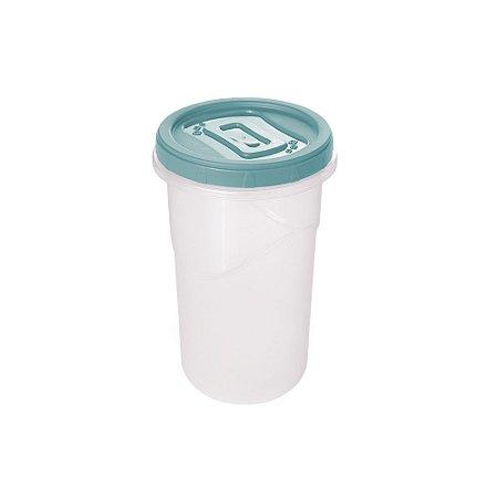 Pote Plástico Plasútil Clic C/Tampa de Rosca 550ml