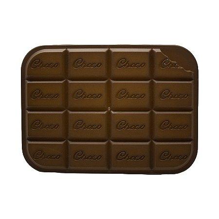 Pote Plástico Retangular Com Tampa Chocolate Médio