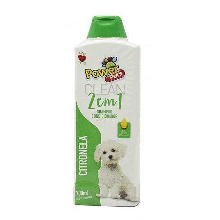 Shampoo/Condic Filhote Power Pets 700ml Citronela