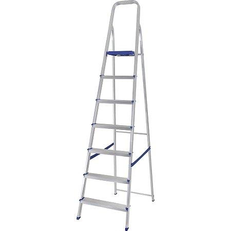 Escada Mor Alumínio de 7 Degraus