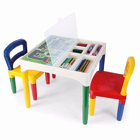 Mesinha DidáticaPoliplac C/ 2 Cadeiras ñ Acomp Obj
