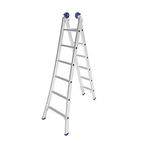 Escada Extensiva Mor de Alumínio 6 à 12 Degraus