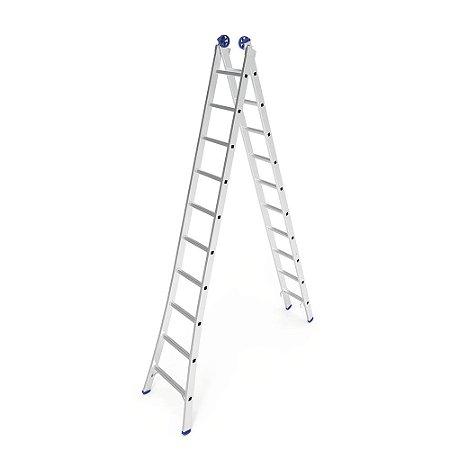 Escada Extensiva Mor de Alumínio 10 à 20 Degraus